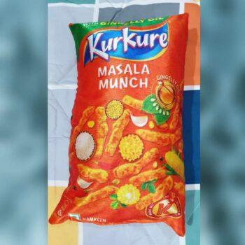 Kurkure Pillow with Original Fiber Filling, Kurkure Cushion Best for Kids (Pack of 2)