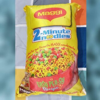 Maggi Pillow with Original Fiber Filling, Maggi Cushion Best for Kids (Pack of 2)