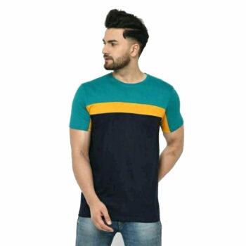 Men Dark Block Regular Fit T-Shirt - 100% Cotton