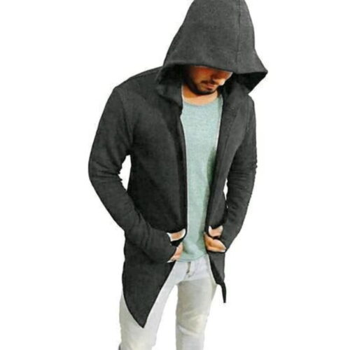 Men Pure Cotton Awesome Hooded T-shirt Grey