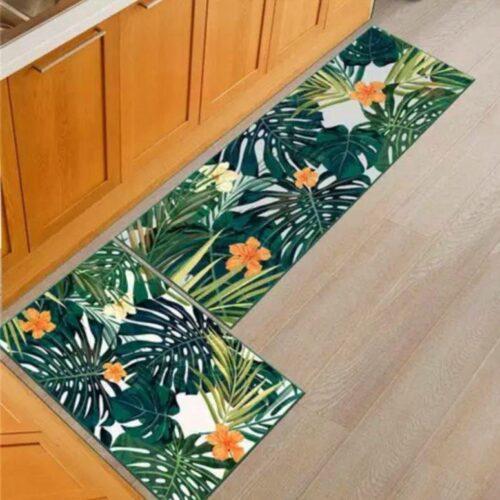 Multi Purpose Washable Kitchen Floor Mats Runner Soft Anti Slip Multi Purpose Mat & Runner (18x55 & 17x26 Inches)