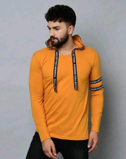 New Classic Men Tshirts Orange