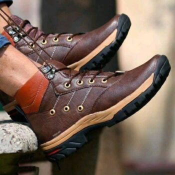 New Fashion Elegant Leather Men's Casual Shoes Brown