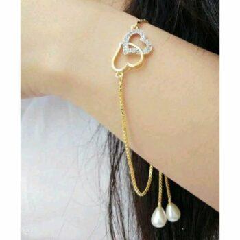Shimmering Colorful Love Bracelet Bangle
