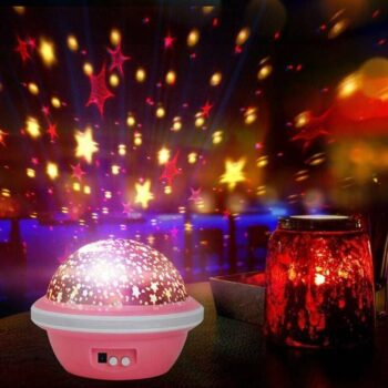 Star Master Dream Rotating 360 Degree Color Changing Star Projection Lamp, Multicolor