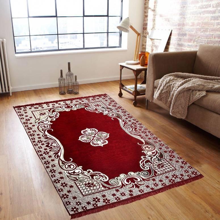 Traditional Kashmiri Large Size Carpet 5 x 7 feet Maroon