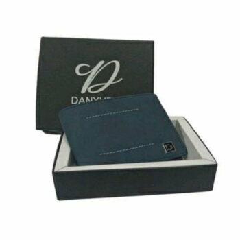 Blue Trendy Leather Men's Wallet