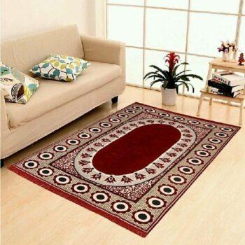 Velvet Touch Chenille Carpet for Living Room, Hall, Bedroom, Drawing Room, Dining, Study Room (7x5 Feet) Maroon