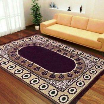 Velvet Touch Chenille Carpet for Living Room, Hall, Bedroom, Drawing Room, Dining, Study Room (7x5 Feet) Purple