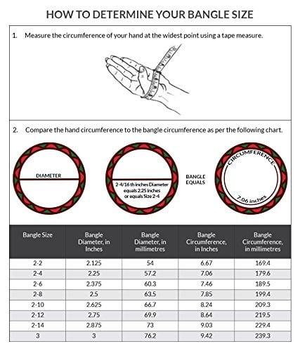 bangles size chart women - kdbdeals