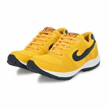 BRK Men's Yellow Net Running Sports Shoes