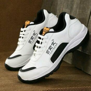 BRK White Men Sports Shoes Black