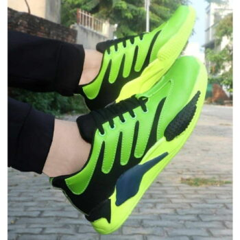 Green Canvas Casual Sports Shoes