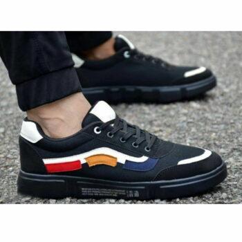 Men Black Self Design Mesh Indoor Sports Sneaker Shoes