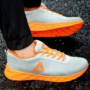 Men Grey Mesh Outdoor & Hiking Sneaker Shoes