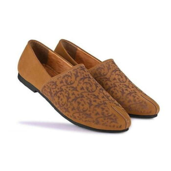 Men's Brown Synthetic Leather Solid Casual Shoes