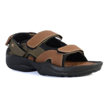 Men's Comfortable Multicoloured Synthetic Leather Sandals