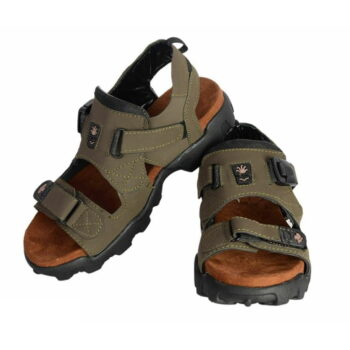 Men's Comfortable Olive Synthetic Leather Sandals