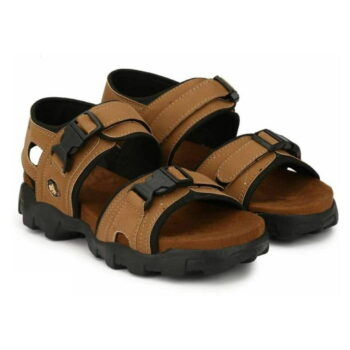 Men's Comfortable Tan Synthetic Leather Sandals