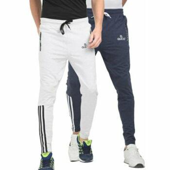 Men's Cotton Slim Fit Track Pant Combo - D001