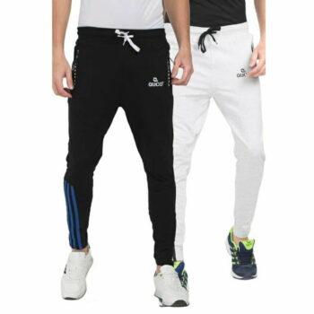 Men's Cotton Slim Fit Track Pant Combo - D002