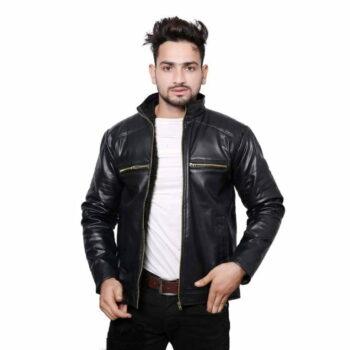Men's PU Leather Jacket (Black)