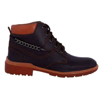 Men's Stylish Synthetic Leather Boots (Brown)