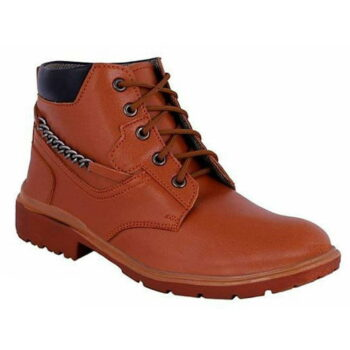 Men's Stylish Synthetic Leather Tan Boots
