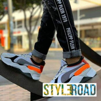 Men's Stylish and Trendy White Printed Mesh Casual Sports Shoes