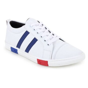 Men's Synthetic Self Design Sneakers Shoes