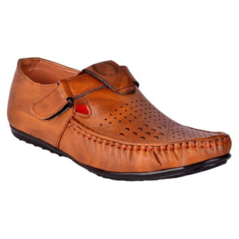 Men's Tan Synthetic Leather Sandals