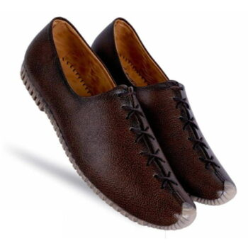 Men's Tan Synthetic Leather Solid Casual Shoes