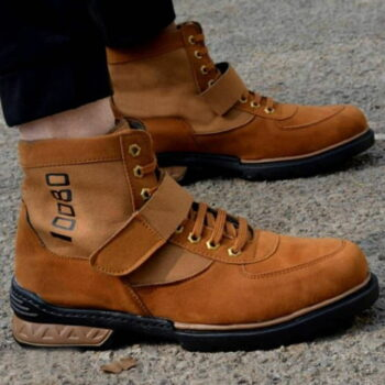 Mid Ankle Tan Cowboy Casual Outdoor Hiking Boots For Men