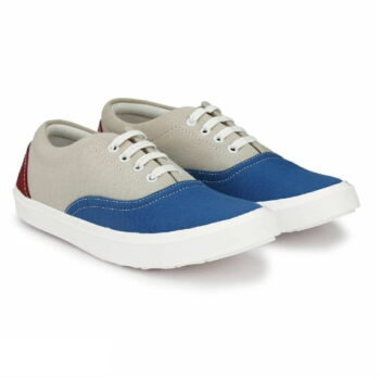 Multicoloured Canvas Causal Sneakers Shoes for Men