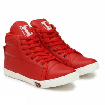 Red Synthetic Sneakers Casual Shoes for Men's