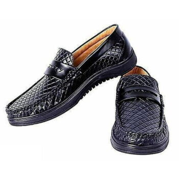 StyleRoad Black Casual Loafers For Men