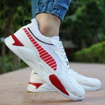 StyleRoad Elegant White Trendy Breathable Sports Sneakers For Men