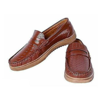 StyleRoad Tan Casual Loafers For Men