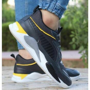 StyleRoad Trendy Black Breathable Sports Sneakers For Men