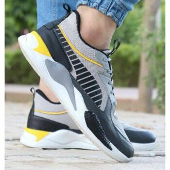 StyleRoad Trendy Grey Breathable Sports Sneakers For Men