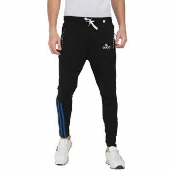 Stylish Men's Cotton Slim Fit Track Pant (Black)