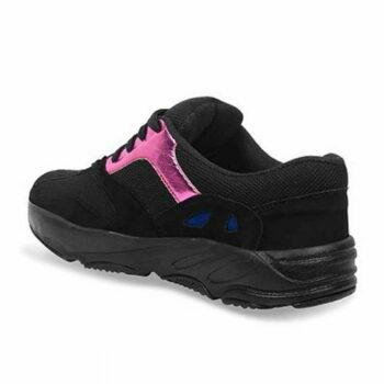Trendy Black Mesh Sports Shoes For Men