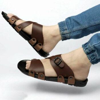 Trendy Brown Sandal For Men