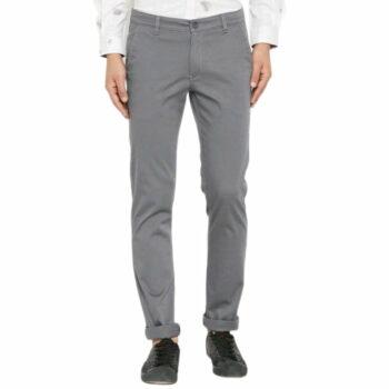 Trendy Stylish Cotton Men's Trouser (Grey)
