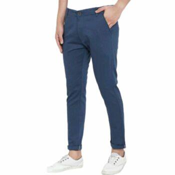 Trendy Stylish Cotton Men's Trouser (Navy Blue)