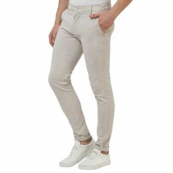 Trendy Stylish Cotton Men's Trouser (Off White)