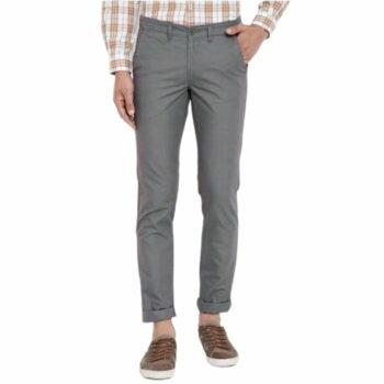 Trendy Stylish Grey Cotton Men's Trouser