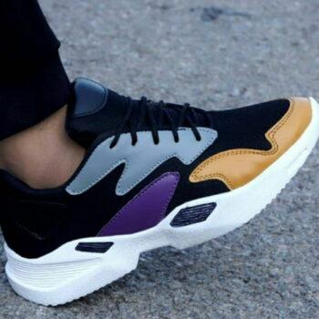 Ultra Lite Black Mesh Casual Sports Shoes
