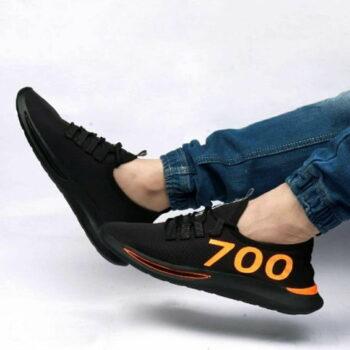 Ultra Lite Black Mesh Sneaker Shoes For Men