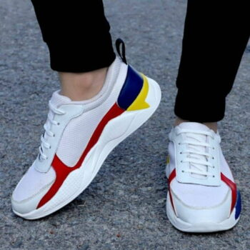 White Mesh Casual Sports Shoes